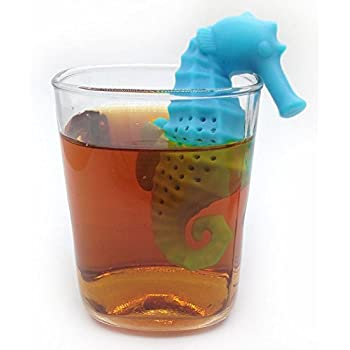 OPPOHERE Silicone Deep Sea Horse Tea Infuser Loose Leaf Mug Strainer Cup Steeper Filter 1PC