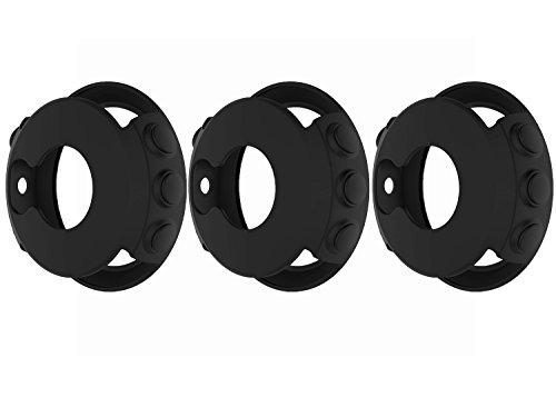 [3-Pack] TenCloud for Garmin Fenix 5 / Fenix 5 Plus Sapphire Watch 47mm Accessories Soft Black Silicone Watch Cover Cases