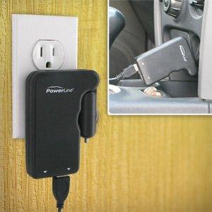 PowerLine AC/DC Dual Port USB Power Adapter 92098 ()
