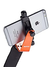 MeFoto SideKick360 Plus Smartphone Tripod Adapter Large - Orange (MPH200C)