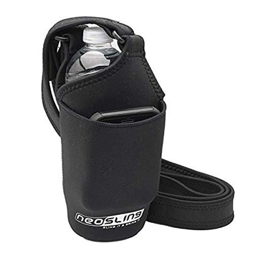 H2O4K9 Neoprene Deluxe Bottle Carrier with Front Pocket (Black) ...