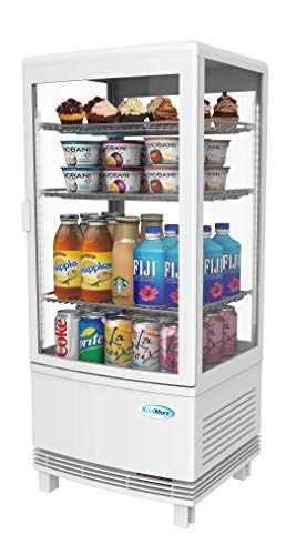 Display Refrigerated Case - KoolMore Countertop Display Refrigerator - Commercial Beverage Cooler with LED Lighting - 3 cu. ft Capacity