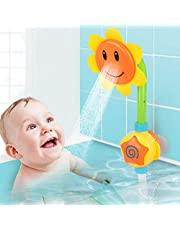 Baby Bath Toys Water Spray Fountain Toys for Kid - Floating Bathtub Shower Pool Toy (Sunflower)