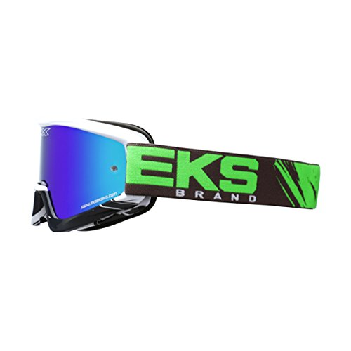 EKS BRAND Unisex-Adult GOX X-Fade MX Motorcross Goggles (Green/White, One - Of Brand Goggles