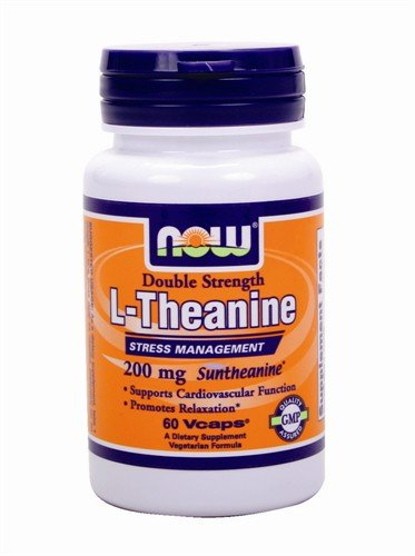 NOW Foods - L-théanine Suntheanine 200 mg. - 60 Vegetarian Capsules