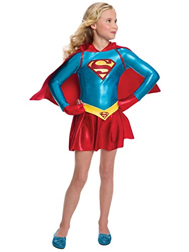 - 41OtAmeu9AL - Rubie's Costume Girls DC Comics Supergirl Dress Costume