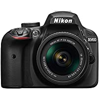 Nikon D3400 DSLR Camera w/ AF-P DX NIKKOR 18-55mm f/3.5-5.6G VR Lens, Black (Certified Refurbished)