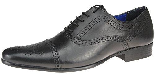 richelieu Sladeavec cuir à 12 Noir Noir Chaussures lacets Tape Red Bout 10 pointu en 7 Brun 9 8 11 1xqXn5