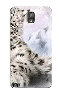 Gaudy Martinezs's Shop Best New Snow Leopard Tpu Case Cover, Anti-scratch Phone Case For Galaxy Note 3 1489605K93935237