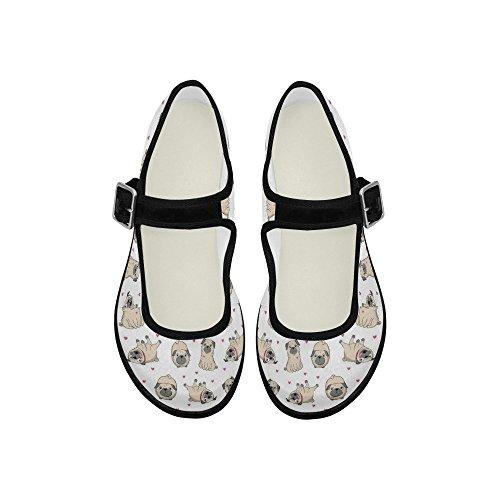 Interestprint Femmes Confort Mary Jane Appartements Casual Chaussures De Marche Multi 7