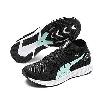 PUMA Women's Speed 500 WN's Sneaker, Puma Black-puma White, 6 US