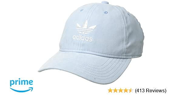 3db65908 Amazon.com: adidas Women's Originals Relaxed Plus Adjustable Strapback Cap,  Aero Blue Suede/White, One Size: Clothing