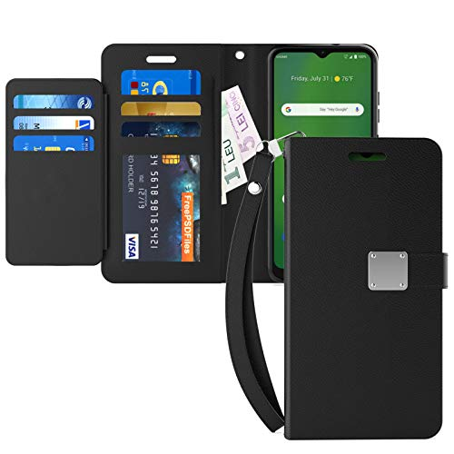 FANUBA for AT&T Radiant Max/Cricket Ovation Wallet Phone Case, PU Leather with Viewing Stand Wrist Strap Card Holders…
