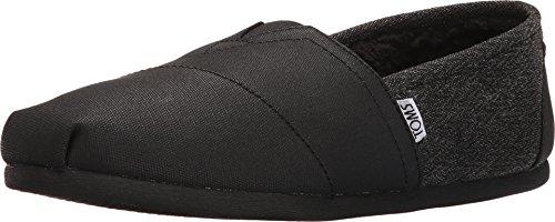 toms-mens-seasonal-classics-black-coated-canvas-herringbone-loafer-9-d-m