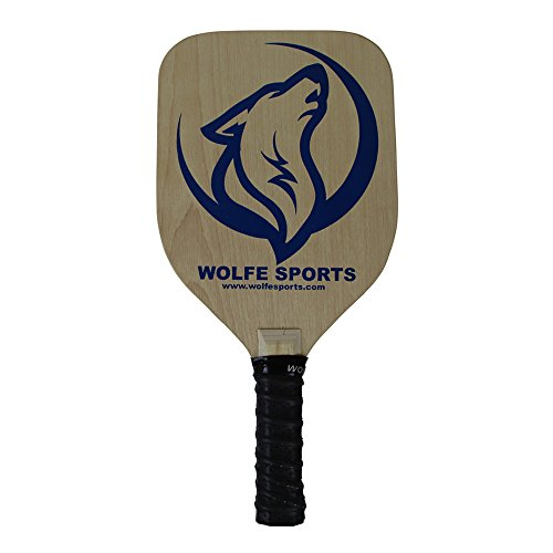 (Wolfe Wood Pickleball Paddle - Premium Wooden Paddle - 7 Ply Will Not Warp | Meets USAPA Specifications (Blue))