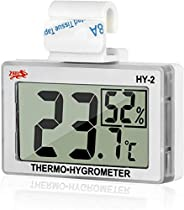 LXSZRPH Reptile Hygrometer and Thermometer High LCD Display Digital Reptile Tank Hygrometer Thermometer with H