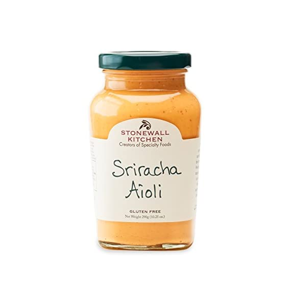Stonewall Kitchen Sriracha Aioli, 10 Ounces 1 Stonewall Kitchen Sriracha Aioli, 10 oz A robust aioli that will add a flavorful kick to your sandwiches and burgers Perfect for dipping veggies and French fries
