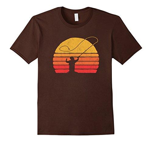 Mens Vintage Fly Fishing Retro Distressed T-Shirt XL (Mens Fishing Graphic Tees)