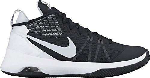Nike Mens Air Versitile Basketball Shoe Black/Metallic Silver-Dark Grey Size 11