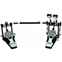 ddrum RXDP Bass Drum Pedal Double, Black and Chrome