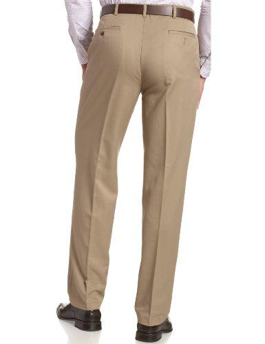 Haggar Men's Cool 18 Hidden Comfort Waist Plain Front Pant,British Khaki,36x30 by Haggar (Image #2)
