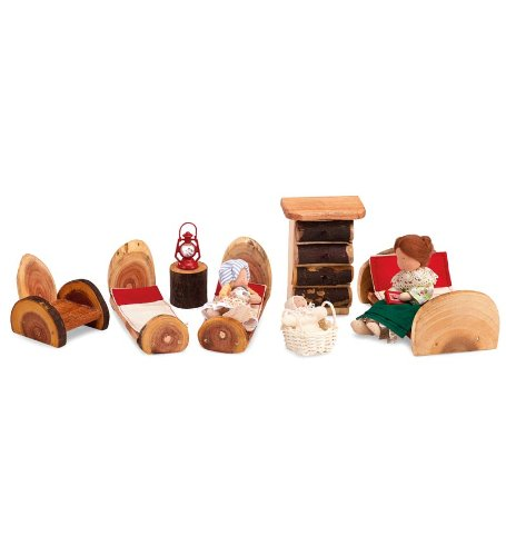 rniture Pioneer Night Set (Miniature Log Furniture)
