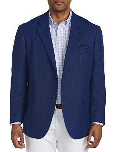 Oak Hill by DXL Big and Tall Jacket-Relaxer Seasonal Textured Solid Sport Coat Executive Cut - Executive 2 Button Wool Blazer
