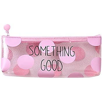 Amazon.com: Pink Transparent Pencil Case Cute Cat Plastic ...