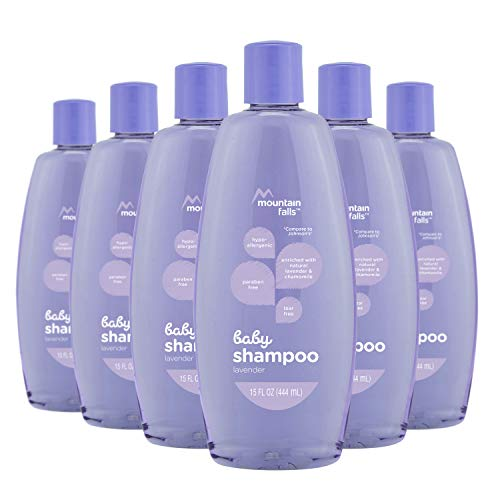 Mountain Falls Hypoallergenic Tear-Free Baby Shampoo, with Natural Lavender and Chamomile, Compare to Johnson's, 15 Fluid Ounce (Pack of 6)