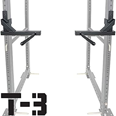 Titan T-3 Series Dip Attachment Bars for 2 x3  HD Power Rack Strength Training