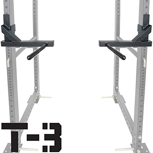 Titan T-3 Series Dip Attachment Bars for 2''x3'' HD Power Rack Strength Training by Titan Fitness