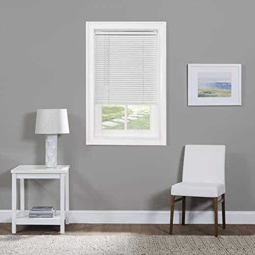 "Achim Home Furnishings Corded Morningstar 1"" Light Filtering Mini Blind, Width 26inch, Pearl White"
