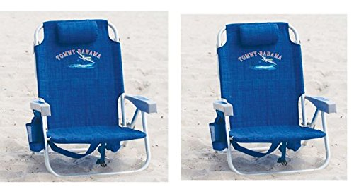 2-tommy-bahama-backpack-cooler-chair-with-storage-pouch-and-towel-bar-blue-blue