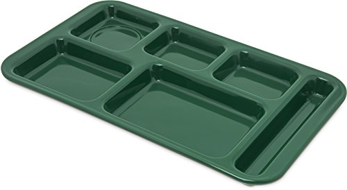 Carlisle 4398208 Right Hand 6-Compartment Cafeteria / Fast Food Tray, 15