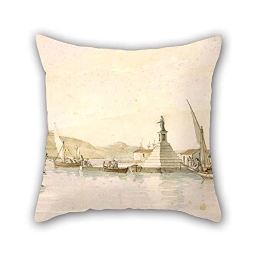- Pillow Covers 16 X 16 Inches / 40 By 40 Cm(twin Sides) Nice Choice For Couples Car Pub Dining Room Dinning Room Wife Oil Painting Cartwright Joseph - View Of Argostoli On The Island Of Cephalonia
