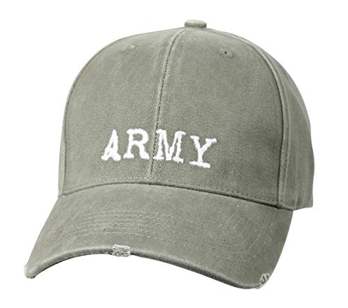 (Rothco Vintage Low Profile Army Cap, Olive Drab)