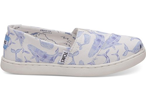 Whale Girls (TOMS Kids Baby Girl's Oceana Alpargata (Infant/Toddler/Little Kid/Big Kid) Multi Watercolor Whale 5.5 M US Big Kid)