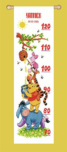 (Disney Winnie and Friends Height Chart Counted Cross Stitch)