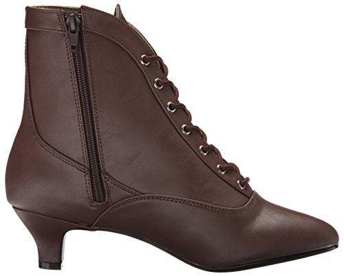 Fab-1005 Stiefelette mit Schnürsenkeln und kurze Ferse Matte braun - Steampunk Victorian - (EU 46 US = 15) - Pleaser Rosa-Aufkleber