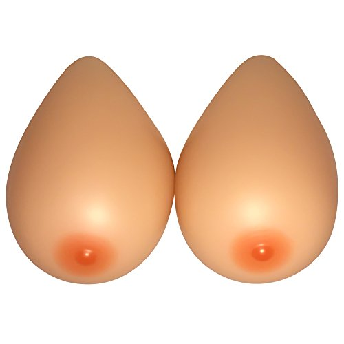 Feminine Silicone Breast Forms Crossdresser Prosthesis Mastectomy (D Cup (1200g) pair) -