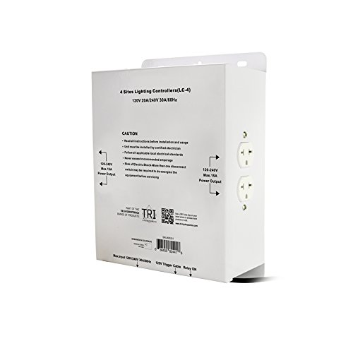 400W High Power HID Master Light Controller by Nobel Commercial | Commercial Light Relay Controller 120/240V (4000W 4 Site) Perfect For Grow Light Use