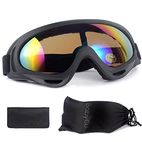Ski Goggles Skiing Sonwboard Goggles For Men Women & Youth With 100% UV Protection, - Women Ski Sunglasses For Goggles