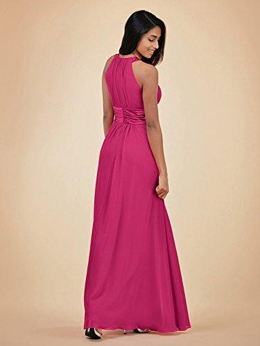 burgunderfarben A Fanciest Damen Linie Kleid q4w4IvB
