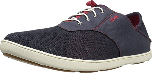 - OLUKAI Men's Nohea Moku Trench Blue/Deep Red 10 D US D (M)