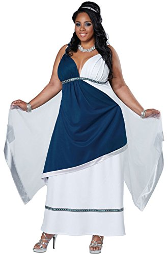 Mememall Fashion Roman Beauty Greek Goddess Toga Plus Size Costume (Plus Size Greek Goddess Costume)