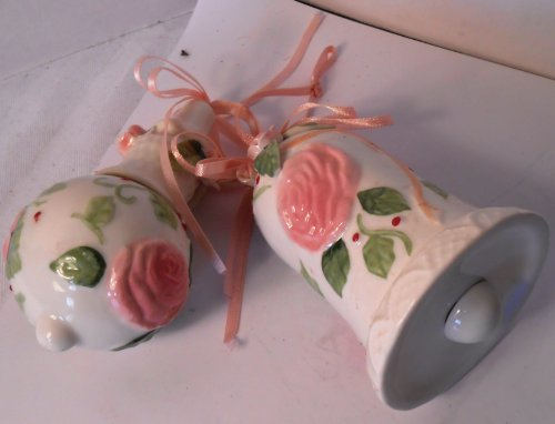 Set of 2 Victorian Style Rose Ornaments