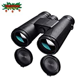 Allo 10x42 Compact HD Binoculars for Adults, High Power Low Light Night Vision Binoculars for Bird Watching, Hunting, Stargazing, Sports Events, Travel, Adventure and Concerts