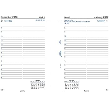 Amazon.com : Filofax 2019 Pocket Week on a Page Refill ...