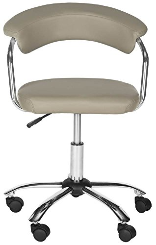 Safavieh Home Collection Pier Grey Desk Chair, Gold/Ivory