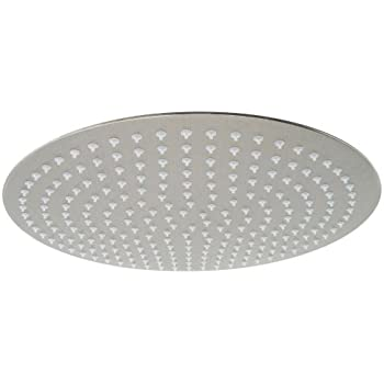 ALFI brand RAIN16R 16-Inch   Solid Round Ultra Thin Rain Shower Head, Brushed Stainless Steel